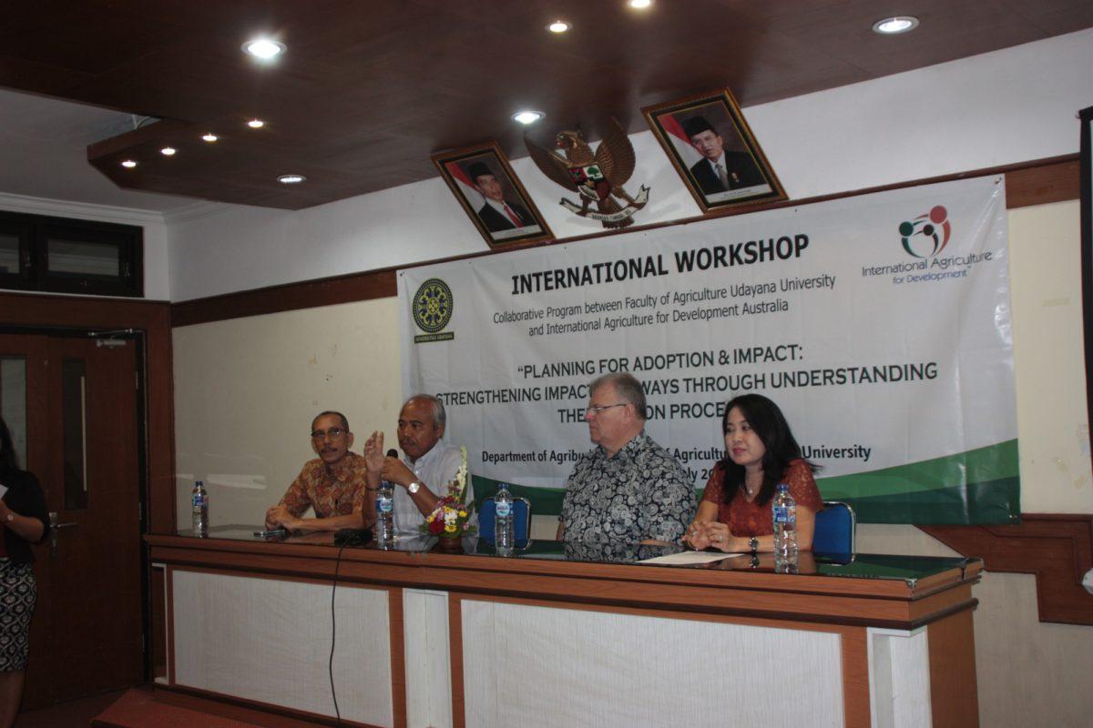 Prodi Agribisnis Menggelar Workshop Internasional Tentang Adopsi Inovasi