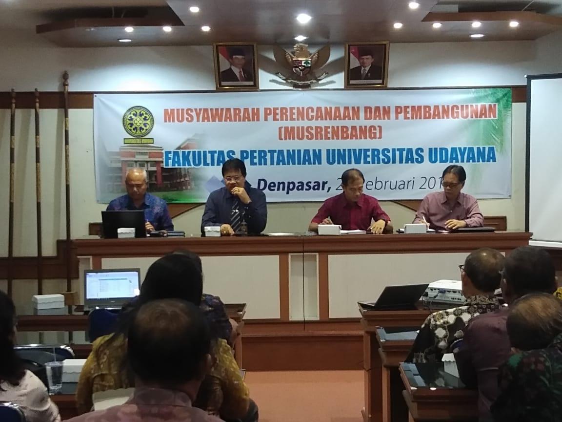 Musrenbang Fakultas Pertanian Universitas Udayana 2019